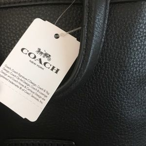 Coach Bags - Coach Andi Black Pebble Leather Backpack NWT